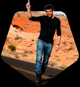 Foto postureando en el desierto de Arizona