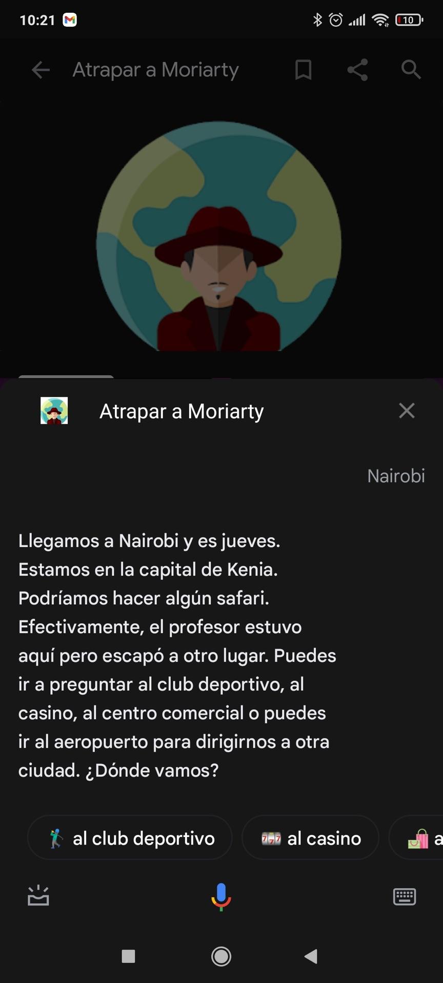 Jugando a Atrapar a Moriarty